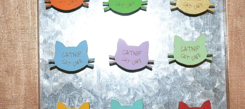 Catnip Cat Cafe Magnet