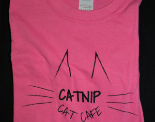 Pink Catnip Cat Cafe T-Shirt
