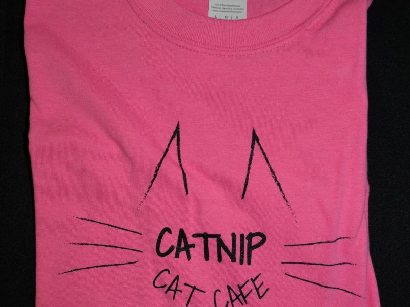 Pink Catnip Cat Cafe T-Shirt